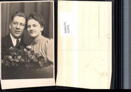 323352,Foto AK Hochzeit Hochzeitsfoto Brautpaar Brautstrauß - Hochzeiten