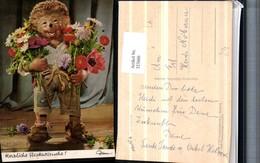 323666,Mecki 302 Igel Blumensträuße Blumen Margeriten Mohnblume Pub Diehl Film - Mecki
