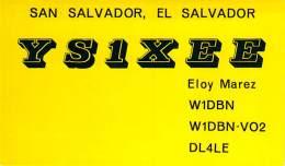 Amateur Radio QSL Card - YS1XEE - San Salvador, El Salvador - 1968 - 2 Scans - Radio Amateur