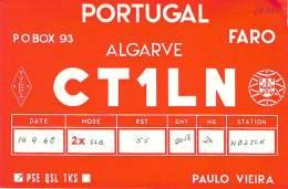 Amateur Radio QSL Card - CT1LN - Portugal - 1968 - 2 Scans - Radio Amateur