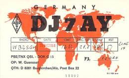 Amateur Radio QSL Card - DJ7AY - Germany - 1968 - Radio Amateur