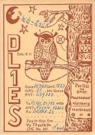 Amateur Radio QSL Card - DL1ES - Germany - 1968 - Radio Amateur
