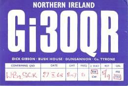 Amateur Radio QSL Card - GI3OQR - Northern Ireland - 1968 - Radio Amateur