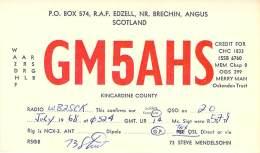 Amateur Radio QSL Card - GM5AHS - Angus, Scotland - 1968 - Radio Amateur