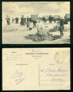 Heist Aan Zee Sur La Plage Cpa Animée 1909 - Heist