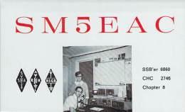 Amateur Radio QSL Card - SM5EAC - Mjolby, Sweden - 1969 - 2 Scans - Radio Amateur