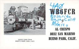 Amateur Radio QSL Card - 4A0FCR - Baja, Calif MEXICO - 1968 - 2 Scans - Radio Amateur