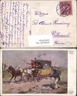 329570,Künstler Ak Theodor Breidwiser Auf D. Hochzeitsreise Postkutsche Postwesen - Post & Briefboten