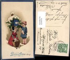 329574,Präge Litho Kinder M. Briefe Briefkasten Korb Winter Postwesen - Post & Briefboten