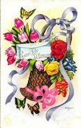 Bonne Fête Maman - Illustration De Zsolt: Panier De Fleurs - Carte M.D. Paris, Série N°2470 - Fête Des Mères