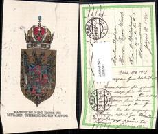 329690,Künstler Ak Wappenschild U. Krone D. Mittleren Wappen Österreich Politik Pub K - Histoire