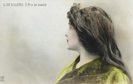 Portrait De Femme (de Profil) - C. De Villers I. Prix De Beauté - Carte VB N°1225 - Donne