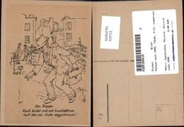 329712,Künstler Ak Die Kippe Konsum Nach 1945 Tabak Geschichte Politik Ausland - Geschichte