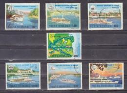 1977 - Navigation Europeenne Sur Le Danube Mi No 3484/3490 Et Yv No 3078/3084 - Usado