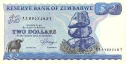 ZIMBABWE 2 DOLLARS 1983 P-1b UNC  [ZW101b] - Simbabwe