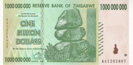 ZIMBABWE 1 BILLION DOLLARS 2008 P-83 UNC  [ZW174a] - Simbabwe