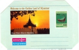 REF LACDIV - MYANMAR - AEROGRAMME INSTRUMENT DE MUSIQUE - Myanmar (Burma 1948-...)