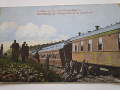 Accident On The Transsiberian Express (postée Du Japon Vers Kaifong) - Russie