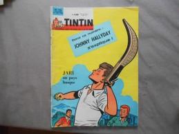 TINTIN LE JOURNAL DES JEUNES DE 7 A 77 ANS N°744 24 JAN. 1963 JOHNNY HALLYDAY S'EXPLIQUE - Livres, BD, Revues