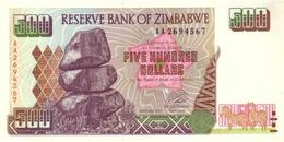 ZIMBABWE 500 DOLLARS 2001 P-11a UNC  [ZW111a] - Simbabwe