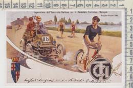 Bologna Esposizione Industria Italiana Automobili Biciclette  Riproduzione Da Originale Serie De Agostini - Turismo