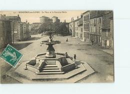 MONISTROL SUR LOIRE : La Place Et La Fontaine Néron. 2 Scans. Edition M B - Monistrol Sur Loire