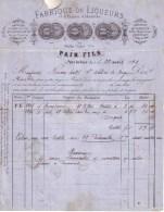 AIN - PONT DE VAUX - LIQUEURS , EXTRAIT D'ABSINTHE - PAIN FILS - 1874 - France