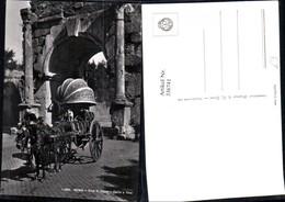 336741,Foto Ak Roma Rom Arco Di Druso Carro A Vino Kutsche Fässer Hund - Taxi & Carrozzelle