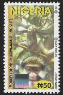 Nigeria 2010 Guenon Monkey Ape Imo State N50 Hologram MNH Mint - Holograms