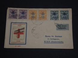 LITUANIE - Env Par Avion Avec Vignette Poste Aérienne De Rigas Pour L'Autriche - Voir Verso - 1928 - A Voir - P20179 - Lituanie