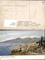 340475,Künstler AK F. Perlberg Beirut Beirouth Beirout Totale Bergkulisse - Libanon