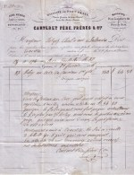 SUISSE - GENEVE - FERS , METAUX , QUINCAILLERIE - CARTERET PERE , FRERES & FILS - 1856 - Suisse