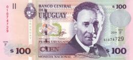 URUGUAY 100 PESOS URUGUAYOS 2011 P-88b UNC  [ UY547g ] - Uruguay