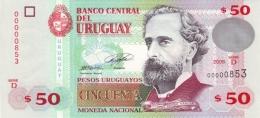 URUGUAY 50 PESOS URUGUAYOS 2008 P-87a UNC  [ UY546d ] - Uruguay