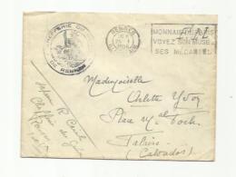Cachet Chefferie Du Génie De Rennes Sur Lettre De 1946 - Bolli Militari A Partire Dal 1940 (fuori Dal Periodo Di Guerra)