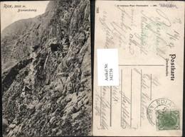 342736,Rax Bismarcksteig B. Reichenau Felswand Bergsteiger - Autriche