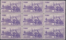 1960.167 CUBA 1960 MNH. MOTORCICLE MOTO ENTREGA ESPECIAL SPECIAL DELIVERY. BLOCK 9. - Cuba