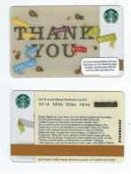 Starbucks Card - Autriche/Austria - Thank You - 0310 Mint Pin - Gift Cards