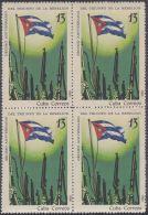 1969.40 CUBA 1969. 10 ANIV DEL TRIUNFO DE LA REVOLUCION.  BLOCK 4. BANDERA FLAG . - Cuba