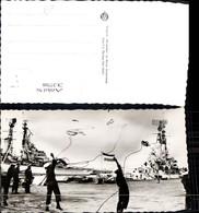 337708,Foto Ak Schiffe Kriegsschiffe Marine Den Helder Keesje Gooien Matrosen M. Seil - Krieg