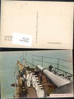 337734,Schiff Kriegsschiff Marine Scenes De Bord Mouillez Matrosen Geschütz - Krieg