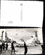 337707,Foto Ak Schiffe Kriegsschiffe Marine Den Helder Keesje Gooien Matrosen M. Seil - Krieg