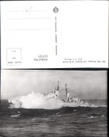 337727,Foto Ak Schiff Kriegsschiff Marine Hr. Ms. Kruiser De Ruyter In De Storm - Krieg