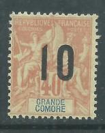 Grande Comore N° 26 XX  Type Groupe  Suchargé  10 Sur 40 C. Sans Charnière, TB
