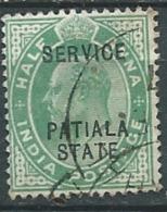 Indian States Patiala  - Service -  Yvert N°19 Oblitéré   -  Abc3921