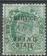 Indian States Jhind  - Service -  Yvert N°17 Oblitéré   -  Abc3922