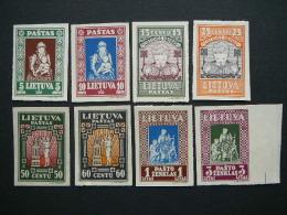 Lietuva Litauen Lituanie Litouwen 1933 Lithuania Child Set Of 8 ** MNH # Mi. 364/1 B Imp.