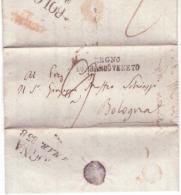 Lettera Da   Mantova Regno Lombardo-Veneto A Bologna  1838   B455 - ...-1850 Voorfilatelie