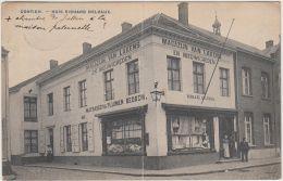 27329g  HUIS RICHARD DELVAUX - MAGAZIJN VAN LAKENS - EN NIEUWIGHEDEN - Contich  - 1903 - Kontich