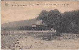 27349g  VICINAL - TRAM A VAPEUR -  SORTIE DES GROTTES - ALLEE DES MARONNIERS - Han-sur-Lesse - 1909 - Rochefort